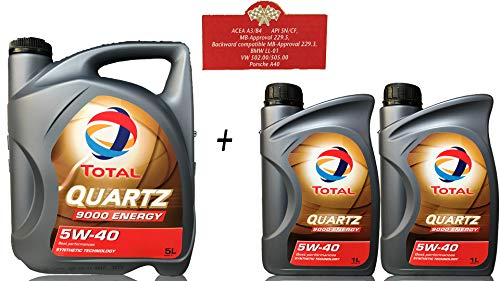 7 liter motorolie TOTAL QUARTZ 9000 ENERGY 5W-40