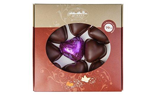 Stralsunder Marzipanherzen im feinster Zartbitterschokolade 100g Marzipan Pralienen Konfekt