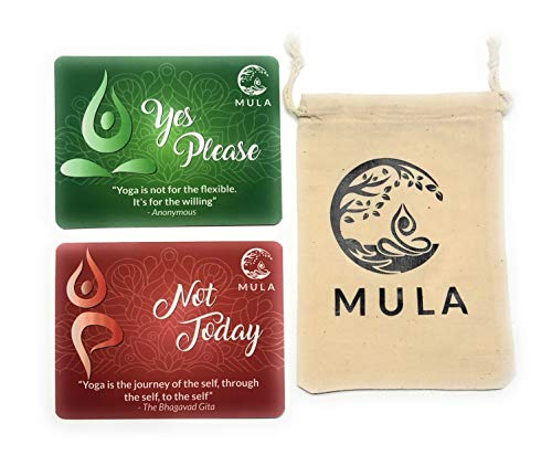 Mula Yoga Consent Cards Flip Chips for Hands-On Assists. Great Gift for Instructors or Students. Set of 15 Two-Sided 4.25