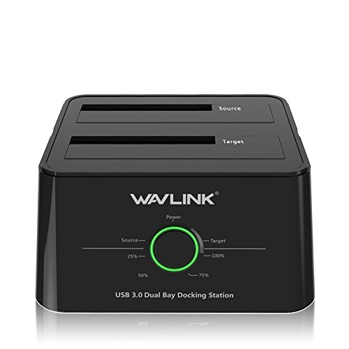 WAVLINK USB 3.0 to SATA (5Gbps) Dual-Bay Hard Drive Docking Station