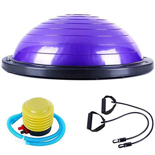 Dsnmm Gymnastikball, Anti-Burst extra dick, Swiss Ball mit Quickmp, Gebären Kugel for Yoga, Pilates, Fitness, Schwangerschaft Labor Gymnastikball Silber, (Color : Purple)