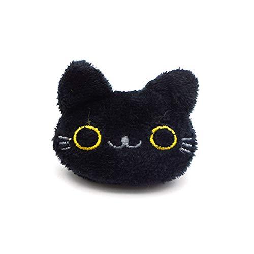 Koobysix Studentin - Muñeca de Gato en 3D, diseño de Dibujos Animados, Color Negro