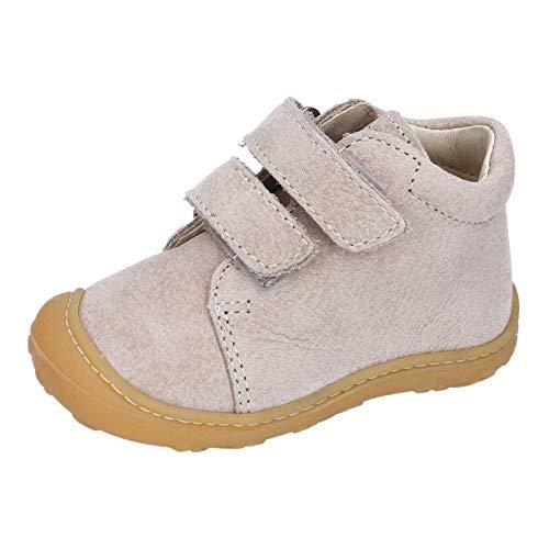 RICOSTA Unisex - Kinder Lauflern Schuhe Chrisy von Pepino, Weite: Weit (WMS), toben Spielen verspielt detailreich Freizeit,kies,25 EU / 7.5 Child UK