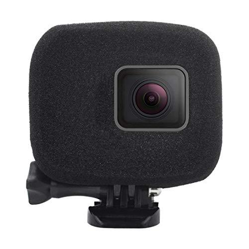 wortek Windschutz, kompatibel mit GoPro HERO 7 Black White Silver HERO 6 HERO 5 Kamera, weicher Schaumstoff Schutz-Gehäuse reduziert Windgeräusche Rausch-Unterdrückung für Actioncam Windslayer Schwarz