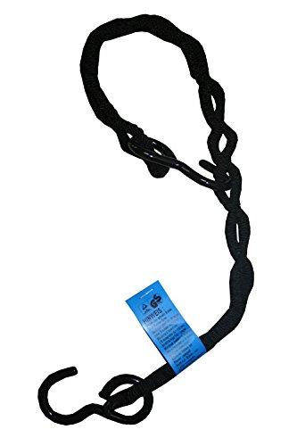 mamutec 011920150022 Loadfix Gepäckspinne mit 2 Haken und 2 Armen, 150 cm schwarz