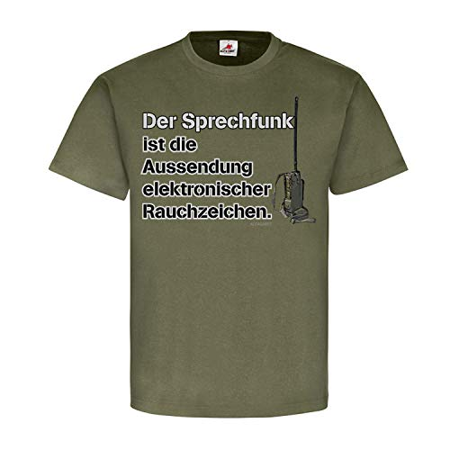 Copytec Der Sprechfunk ist die Aussendung elektronischer Rauchzeichen Funkgerät #25187, Größe:S, Farbe:Oliv