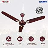 Luminous Dhoom 1200mm 70-Watt High Speed Ceiling Fan (Brown)