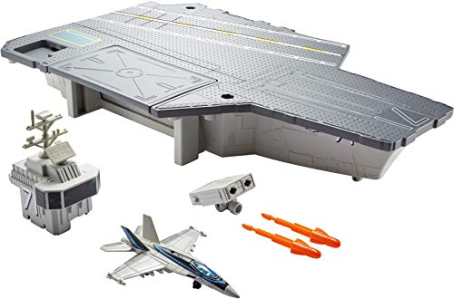 Matchbox Top Gun: Aircraft Carrier Play Set Gift Idea for Ages 4 to 8 Years with Top Gun Boeing F/A 18 die-cast Jet