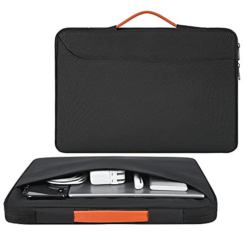 13.3 Inch Laptop Case for MacBook Air/MacBook Pro 13,Dell XPS/Latitude 13, Lenovo ThinkPad/Yoga/ChromeBook Flex 5 13,HP Elitebook X360 1030 G3,Samsung Galaxy Chromebook 13.3 Computer Bag-Black