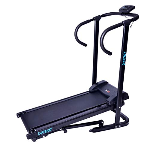 Fitkit FK95 Manual Treadmill With Free Installation and Easy Foldable