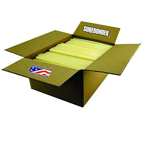 Surebonder 711R10 Light Amber Fast Set Packaging Standard Glue Sticks, Made in The USA, 7/16