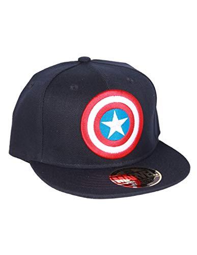 Casquette Marvel - Captain America Bouclier Navy