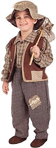 VENEZIANO Costume Carnevale da Contadino Baby Vestito per Bambino Ragazzo 1-6 Anni Travestimento Halloween Cosplay Festa Party 5084 4 Anni