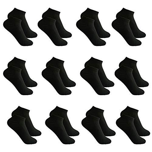 Toocool - Stock 12 paia calzini alla caviglia fantasmini uomo donna cotone ZA-115 [Taglia unica,NERO UOMO]