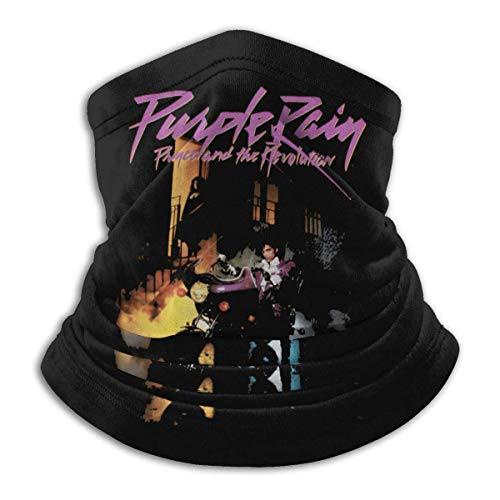 Prince Purple Rain Hombres & Mujeres Microfibra calentador de cuello polaina elástica cara cubierta media cubierta tubo bufanda versatilidad bandana diadema diadema pasamontañas