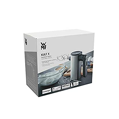WMF-Kult-X-Edition-Handrhrer-Quirl-400-W-5-Geschwindigkeitsstufen-Turbofunktion-cromargan-matt-schwarz