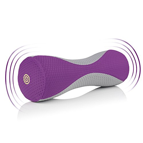 VITALmaxx Massagerolle mit Vibration, grau/lila
