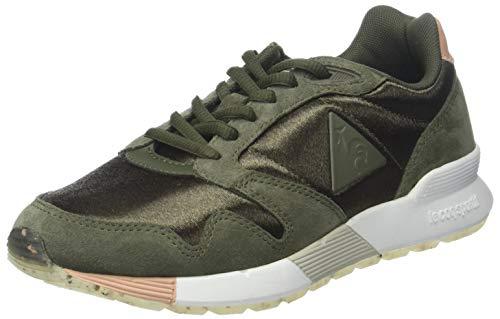 Le Coq Sportif Damen Omega X W Sport Sneaker, Grün (Olive Night/Dusty Coral Kaki), 40 EU