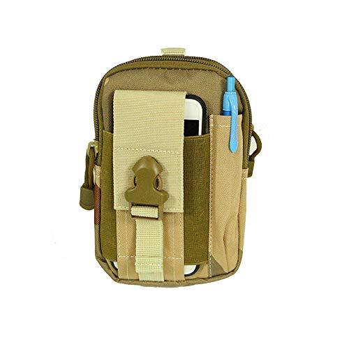 ZWWZ Bolso de la Cintura Bolsillo Multifuncional Deportes Bolsillos de los Deportes Militares Bolsillos tácticos al Aire Libre Corriendo Bolsillos para teléfonos móviles Pockets Impermeables MISU
