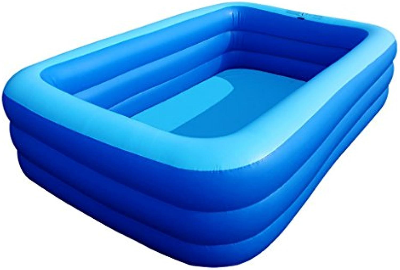 Fu Pumpe Aufblasbare Pool Quadratische Badewanne Barrel Erwachsenen Badewanne Verdickung Hohe Familie Pool Kind Kind Badewanne Blau (gre   L)