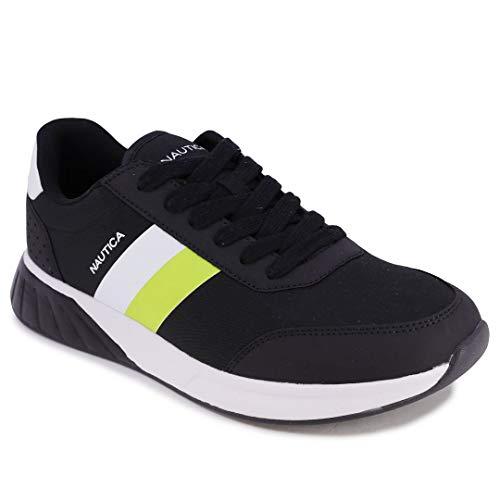 Nautica Men's Casual Lace-Up Fashion Sneakers Oxford Comfortable Walking Shoe-Aport 7-Black-12