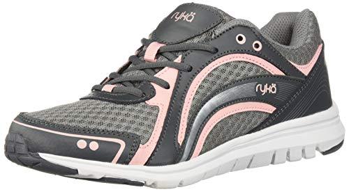 Ryka Women's Aries Walking Shoe, Grey/Rose, 8 M US