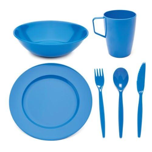 Servizio di stoviglie in policarbonato, per ragazzi, con piatto, ciotola, tazza e posate
