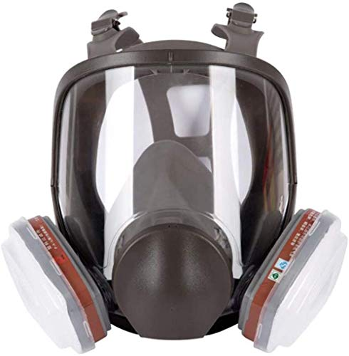 XIAOCUI Maschera Integrale Antigas Funzione, con respiratore, in Silicone, Maschera Antipolvere, Facile da Respirare, per la Protezione da Polvere e Gas Nocivi, Gas Mask