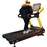 CCJW Cinta de correr motorizada 1.5-22 km de velocidad ajustable, peso de 180 kg botón pantalla táctil resistente cinta de correr ejercicio kshu