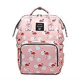 Starte Baby-Wickeltasche für Mama/Papa, Flamingo-Tasche für Frauen, wasserdichter Reiserucksack, geräumige Tragetasche, Schultertasche, Organizer, rosa