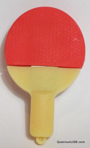 USB204 16GB-32GB Goma Pala o Raqueta de Ping Pong (32GB)