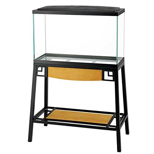 Aqueon Forge Metal Aquarium Stand, 30 by 12-Inch, Black