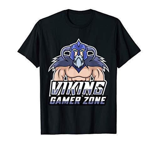 Gamer Zone Design Wikinger Gaming Konsole PC Geschenkidee T-Shirt