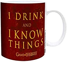 Game of Thrones - I DRINK AND I KNOW THINGS Ceramic Coffee Mug, 11 oz