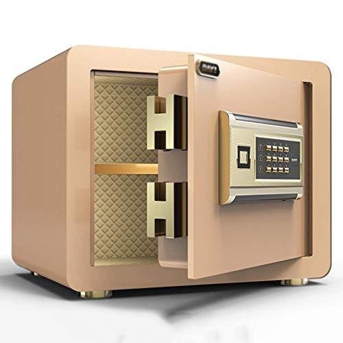 XiYou Caja Fuerte de Seguridad, hogar, pequeño, Invisible, Completamente de Acero, Cerradura, Oficina, mesita de Noche, antirrobo, depósito en la Pared (Oro, 25 * 25 * 35 cm)