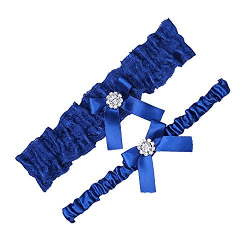 Amosfun Liga de encaje para boda, liguero de piernas, liguero de novia, ligueros para mujeres, niñas, bodas, fiestas, concursos y graduaciones.