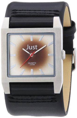 Just Watches Herren-Armbanduhr XL Analog Leder 48-S2524G-BR-SL
