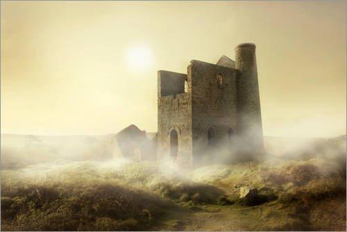 Póster 30 x 20 cm: Foggy Morning In Cornwall de Jaroslaw Blaminsky - impresión artística, Nuevo póster artístico