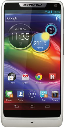Motorola RAZR i Smartphone (10,9 cm (4,3 Zoll) Touchscreen, 8 Megapixel Kamera, 8GB Speicher, micro-USB, Android 4.1) weiß
