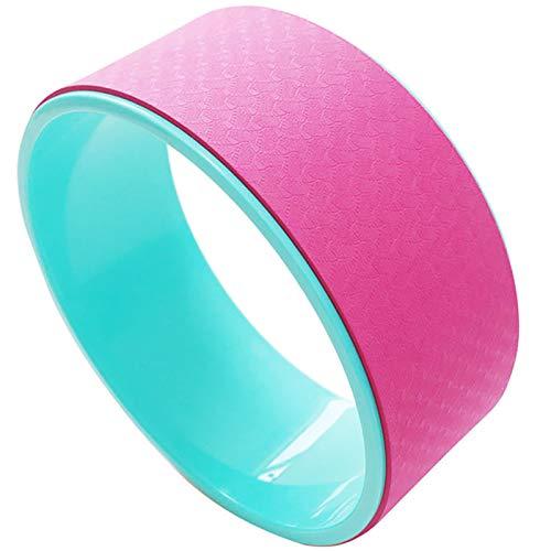 YzDnF Rueda De Yoga Interior Productos Ayuda DE Yoga Ring Pilates Dharma APROBACIÓN Rueda Adecuada para HOGAR Estirando y mejorando backbends (Color : Pink, Size : 12x32cm)