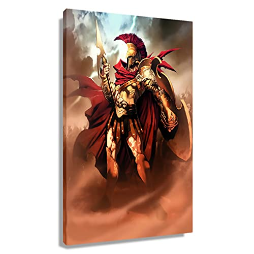 Greek Mythology Ares God of War Poster Photo Painting Pictures Wall Decor Aesthetic Room Decor Oil Paintings on Canvas Giclee Wall Art Prints Rectangle Poster for Bedroom Unframed 12x18 inch(30x45cm)