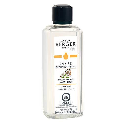 MAISON BERGER Coconut Monoi Lampe Berger Refill for Home Fragrance Oil Diffuser, 16.9 Fluid Ounces-500 milliliters