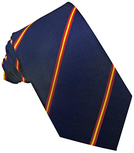 JOSVIL Corbatas de España con la bandera de españa. Corbata Seda Marino. Corbata de seda para hombre elegante y de gran calidad.