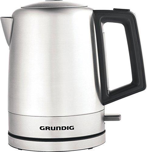Grundig–WK 4640 Wasserkocher 1L, schwarz, Edelstahl, 2200W