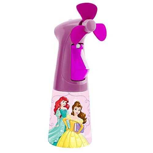 O2COOL Licensed Princess Misting Fan, Handheld Misting Fan, Battery Operated Fan, Water Spray Fan, Mini Portable Desk Fan, Personal Cooling Fan for Outdoor, Fine Mist Sprayer
