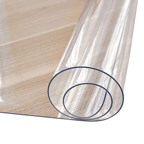 HYCH-Alfombrilla Protectora for Suelo PVCFilete/insípido Transparente Alfombrilla De Plástico Antideslizante Resistente Al Desgaste Sala Habitación Protección Del Piso,1.2mm,40x200cm