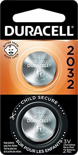 Duracell DL2032B2PK Lithium Medical Battery, 3V,...