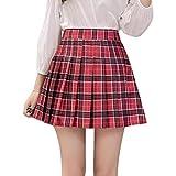 Mxssi Falda Corta Cintura Alta Falda Plisada Escuela Tenis Mujeres Niñas