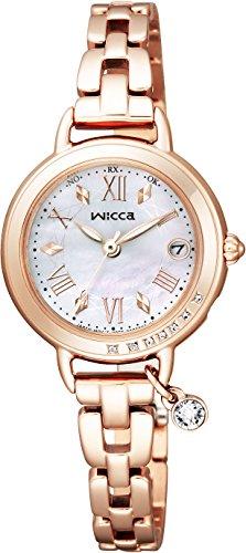 [シチズン]CITIZEN 腕時計 wicca ウィッカ ソーラーテック電波時計 ブレスライン ハッピーダイアリー KL0-863-11 レディース