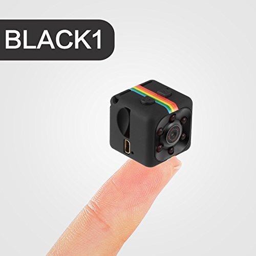Beautiful Pine Hermosa cámara Oculta del Kiefern-1080P Minispion, cámara de vigilancia inalámbrica con detección de Infrarrojos, 140 Grados de ángulo Amplio de detección de Movimiento, Negro